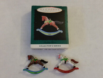 Hallmark Miniature Ornaments Rocking Horse 1st in series 1988 8th in series 1995