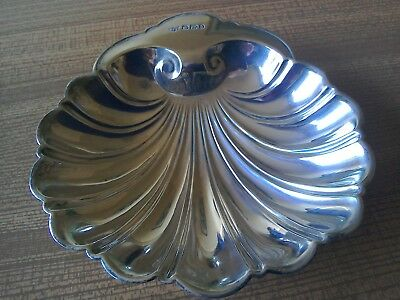 Solid Silver Victorian Shell Shaped Butter Dish , Sheffield 1896,Maker B&G.
