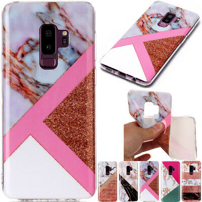 Ultra Slim Marble Soft TPU Silicone Back Case Cover For iPhone Samsung Huawei