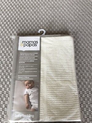 Mamas & Papas Cellular Blanket Large Cot Bedding Brand New