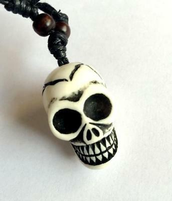 fashion jewely white punk skull head mini design pendants sx035
