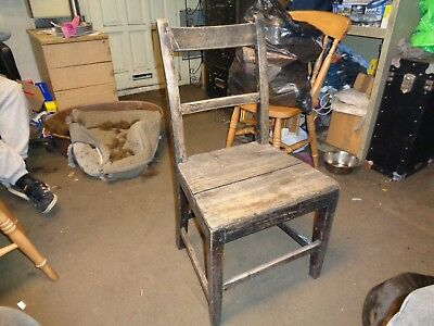 vintage dinning chair kitchen very old and has great wear very used