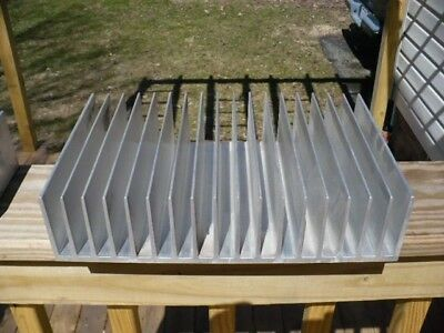 """Large Heat sink Aluminum 8 lbs. 7 7/8"""" x 2 7/8"""" x 12 1/4"""" very good condition"""