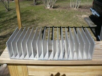 """Large Heat sink Aluminum 5 lbs. 5 5/16"""" x 2 7/8"""" x 12 1/4"""" very good condition"""
