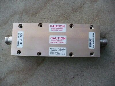 1 RF Attenuator High power 250 Watts Ghz Mhz Cobham Aeroflex Weinschel Test Load