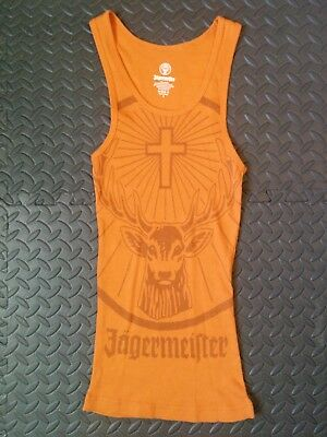 Jagermeister Orange Glitter Tank Top Brand New Size Small