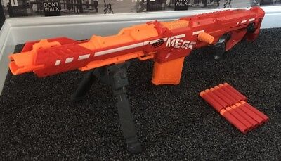 Nerf is celebrating the launch of the furthest firing blaster in the  company's history with the Nerf N-Strike Mega Centurion, available now.