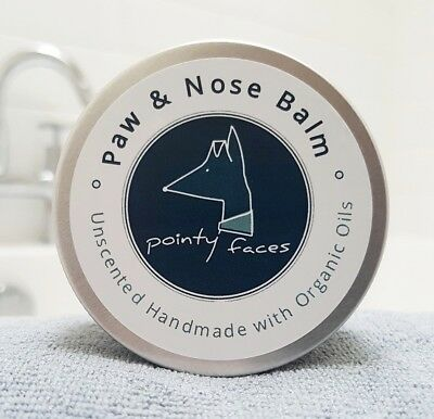 Dog Paw and Nose Balm Organic Unscented for Dry Skin, Paws and Noses. Small 30g
