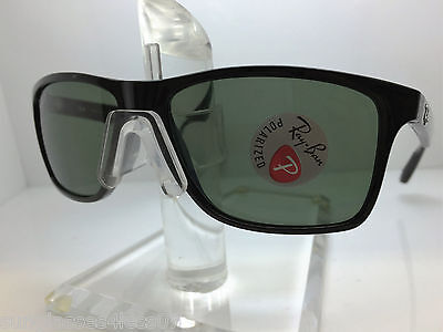 a6df84336e93f AUTHENTIC RAYBAN Rb 4234 601 9A Black Green Polarized Lens 58Mm ...