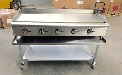 "60"" Flat Griddle 5' Thermostat Control Gas Grill NEW Breakfast Diner 5 Foot"