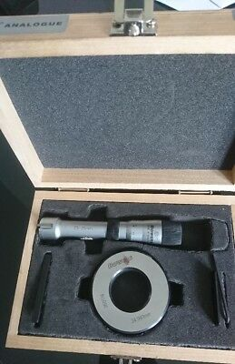 Bowers XT 25mm to 35mm bore micrometers inc setting ring