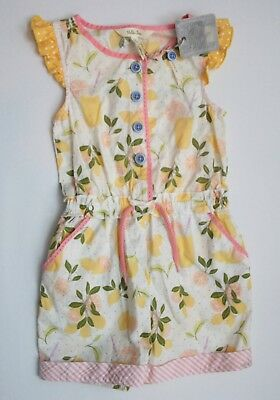 NWT Matilda Jane Lets Make Lemonade Romper Size 6