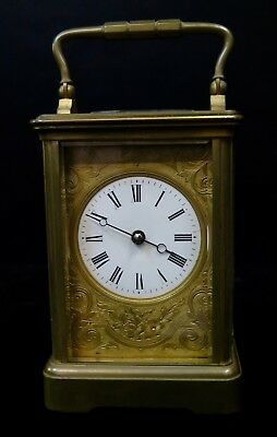 Vintage Continental Enamel Carriage Clock