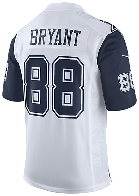 new concept b1695 4020f DALLAS COWBOYS Ezekiel Elliott Nike White Color Rush Legend ...