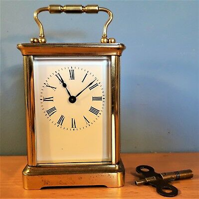 Antique French 8 Day Carriage / Mantle Clock C1900, Good working order.