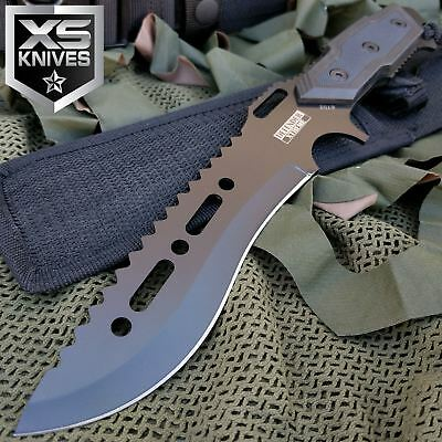 """12""""  Full Tang TACTICAL COMBAT SURVIVAL FIXED BLADE Hunting KNIFE w/ SHEATH"""