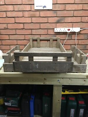2 x Wooden vintage garden trays fruit apple boxes crates 24 available