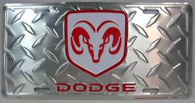 Dodge Ram License Plate Car Truck Aluminum Tag Diamond Logo Daimler Chrysler