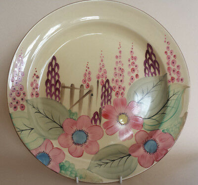 Art Deco Grays Susie Cooper style XL Charger/Dish handpainted gilded Floral 9636
