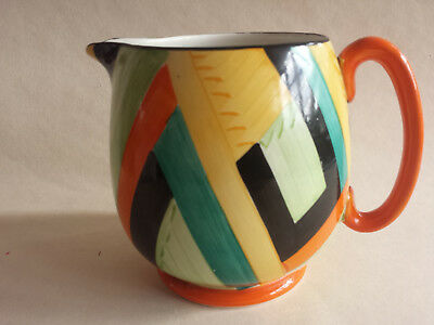Rare Art Deco Grays Susie Cooper 'Peri' Large Abstract and Jazz Modern Paris Jug