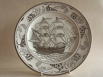 Grays Silver - Lustre hand painted Sailing Ship/Clipper A2134