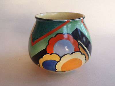 Rare Art Deco Grays Susie Cooper Geometric handpainted Vase