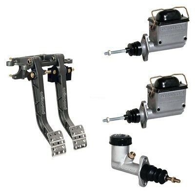 Forward Swing Mount Brake and Clutch Pedal Combo Assembly Wilwood Triple 6.25:1
