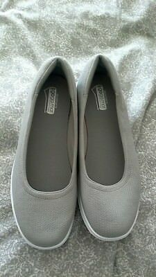 4af99bf42b6f Skechers GO Step Luxe Slip On Ballet Pump With Goga Mat Grey Uk 8 Euro 41