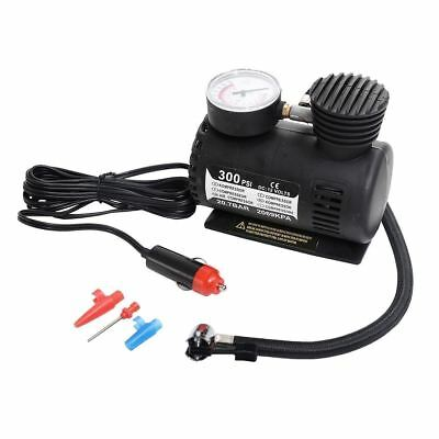 Mini 12V 300PSI Bicycle Auto Car Motorcycle Pump Air Compressor Tire Inflator