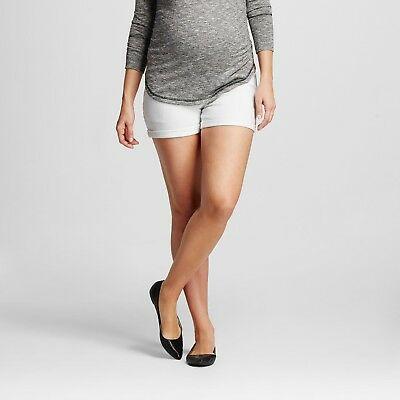 Maternity Over the Belly White Jean Shorts - Liz Lange® for Target NWT