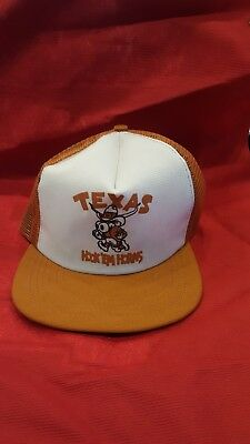 9aecc0e3953 ... cheap vintage texas longhorns trucker snapback hat hook em horns new  tags ea02d 17c1d