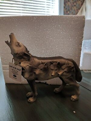 """Westland Call of the Wolf """"Four Wolves"""" 2006 New w/tags and box"""