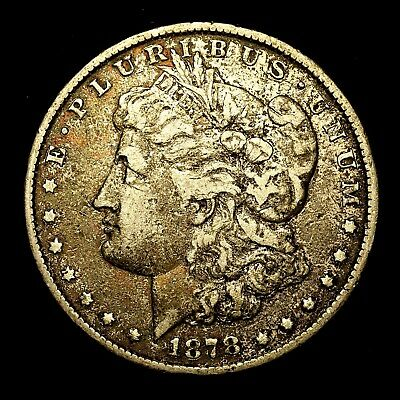 1878 P ~**1ST YEAR ISSUE**~ Silver Morgan Dollar Rare US Old Antique Coin! #633