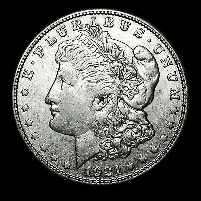 1921 S ~**ABOUT UNCIRCULATED AU**~ Silver Morgan Dollar Rare US Old Coin! #35