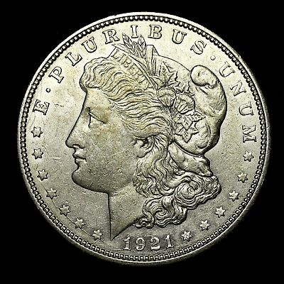 1921 D ~**ABOUT UNCIRCULATED AU**~ Silver Morgan Dollar Rare US Old Coin! #X69