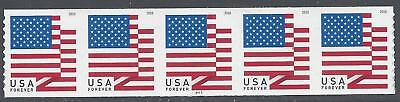 #5260 (50c Forever) US Flag PNC Strip of 5 #P111 APU 2018 Mint NH