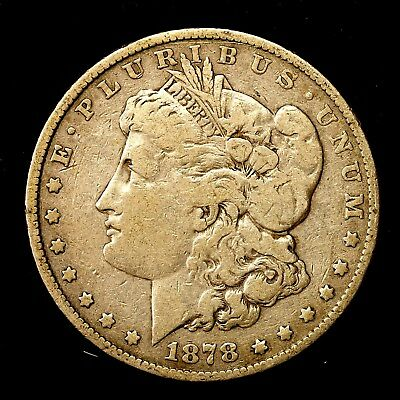 1878 P ~**1ST YEAR ISSUE**~ Silver Morgan Dollar Rare US Old Antique Coin! #632