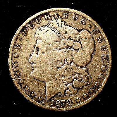 1878 P ~**1ST YEAR ISSUE**~ Silver Morgan Dollar Rare US Old Antique Coin! #378