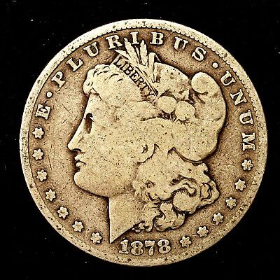 1878 P ~**1ST YEAR ISSUE**~ Silver Morgan Dollar Rare US Old Antique Coin! #235