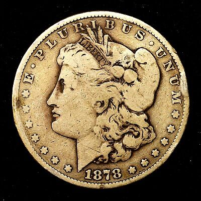 1878 P ~**1ST YEAR ISSUE**~ Silver Morgan Dollar Rare US Old Antique Coin! #941