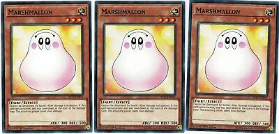Marshmallon - YS17-EN015 - 3 Card Playset - Common YuGiOh Link