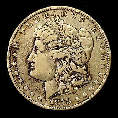 1878 P ~**1ST YEAR ISSUE**~ Silver Morgan Dollar Rare US Old Antique Coin! #629