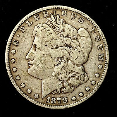1878 P ~**1ST YEAR ISSUE**~ Silver Morgan Dollar Rare US Old Antique Coin! #573