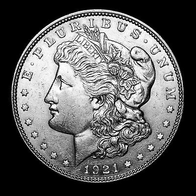 1921 D ~**ABOUT UNCIRCULATED AU**~ Silver Morgan Dollar Rare US Old Coin! #118
