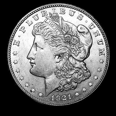 1921 D ~**ABOUT UNCIRCULATED AU**~ Silver Morgan Dollar Rare US Old Coin! #676