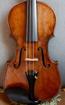 Beautiful old antique 4/4 French violin c. 1800 w/ grafted head