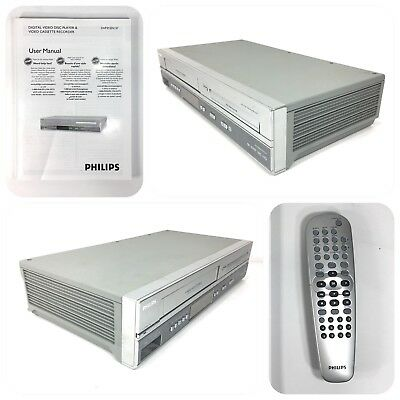 philips dvp3150v vcr dvd player w av cables and manual no remote rh picclick com Philips Flat TV Manual Philips TV Manual