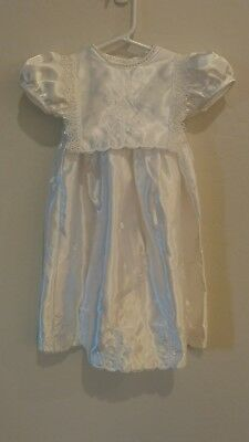 Christening/ Baptism Dress with bonnet, embroidered 6-9 mo NWOT