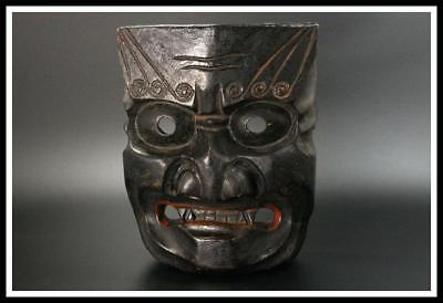 MSK13 Japanese Antique wooden Kagura devil's mask Japan izumo / Noh kyogen