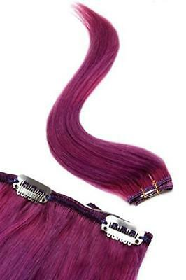 (TG. 45 cm) Single Weft | clip in Hair extensions | 6 clip | extensions capelli